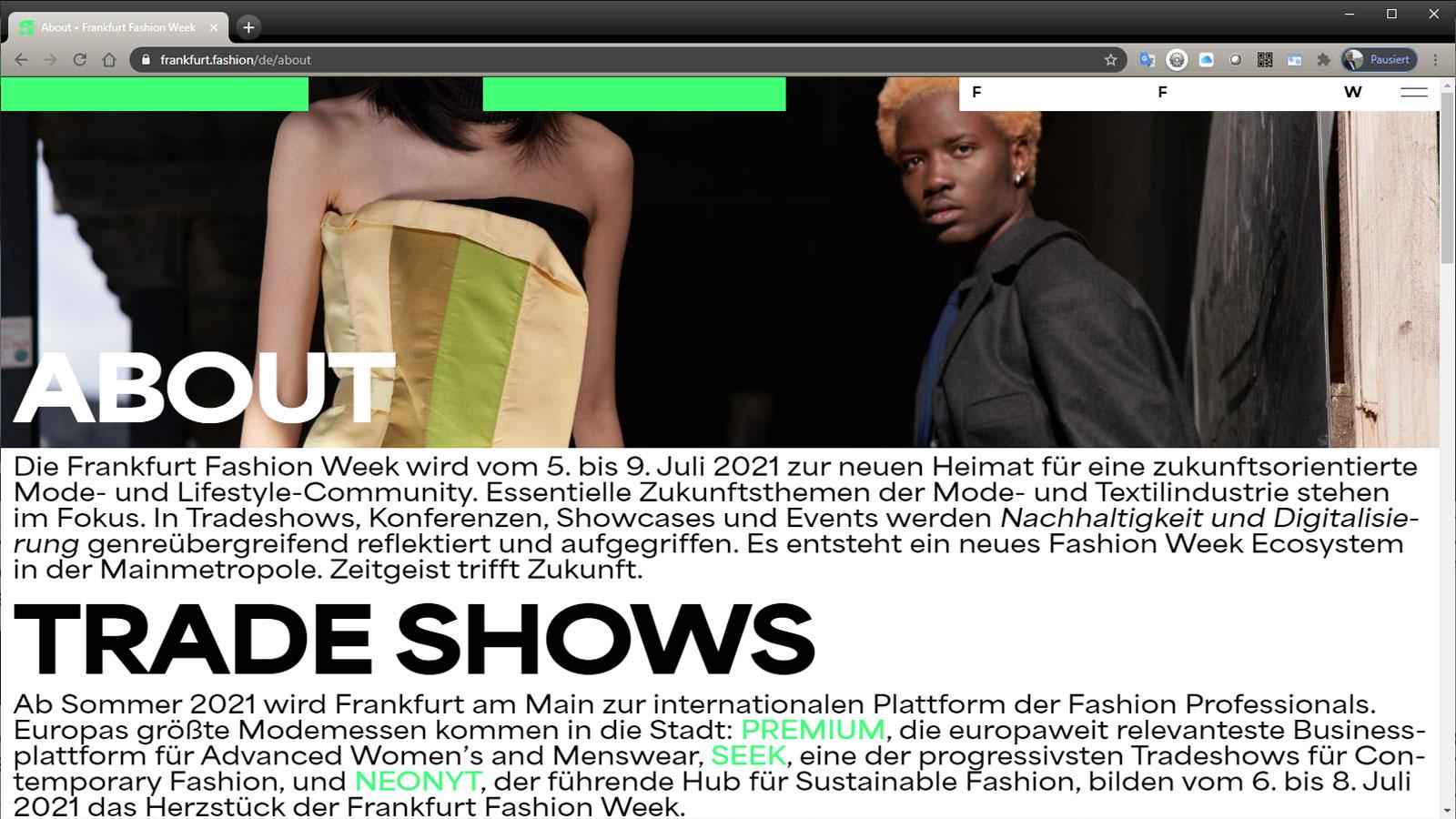 Fashion Week Frankfurt 2021