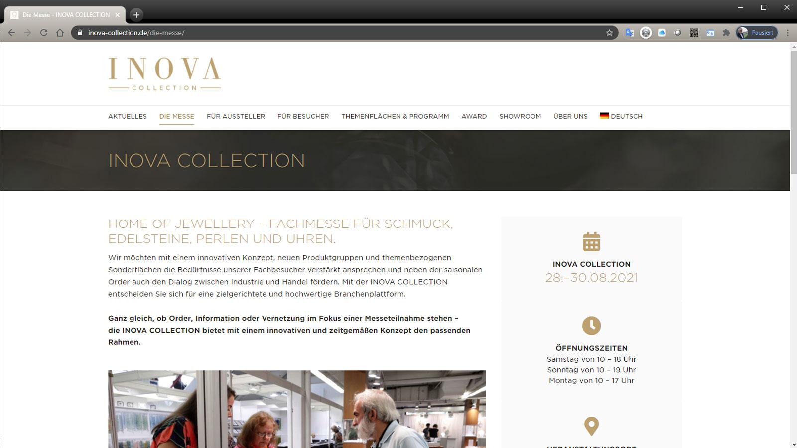 Schmuckmesse Inova Collection 2021